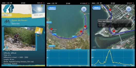 Garda, Lake Garda, Italy, Garda app, bike ride, bike hire,  bike route, bike path, route planner