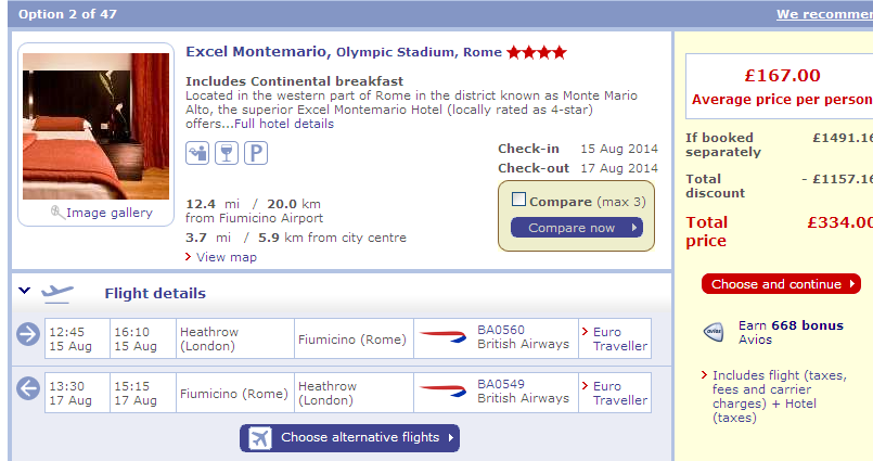BA, British Airways, hotel, Rome, Italy, Flight, weekend