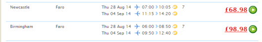 faro, flights, cheap, thomson, holiday