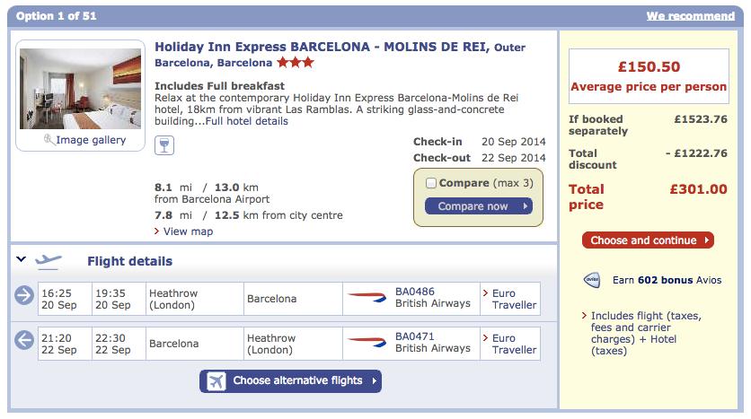 ba, british airways, holidays, flights, barcelona, spain, last minute deal, weekend break