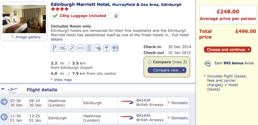 british airways, ba, Edinburgh, hogmanay, Scotland, new years eve, short break, holiday