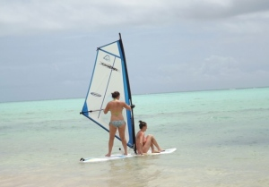 windsurf, beach, cap cana, juanillo, ocean, sea, holiday, dom rep, dominican republic